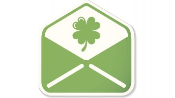 St. Patrick mail sticker